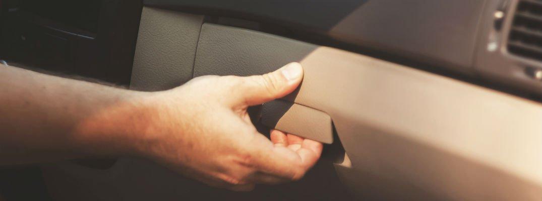 Hand opening vehicle glove box